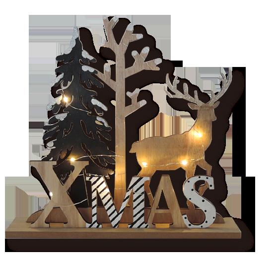 Décoration de Noël en bois Décoration d'intérieur