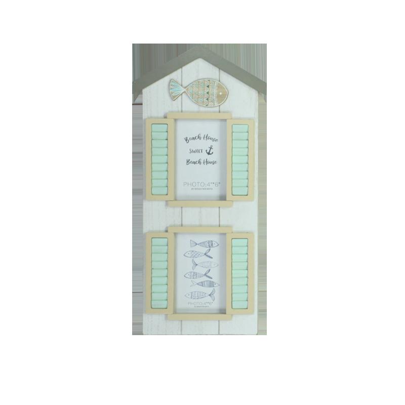 Décoration de la maison en bois Plage avec cadre photo