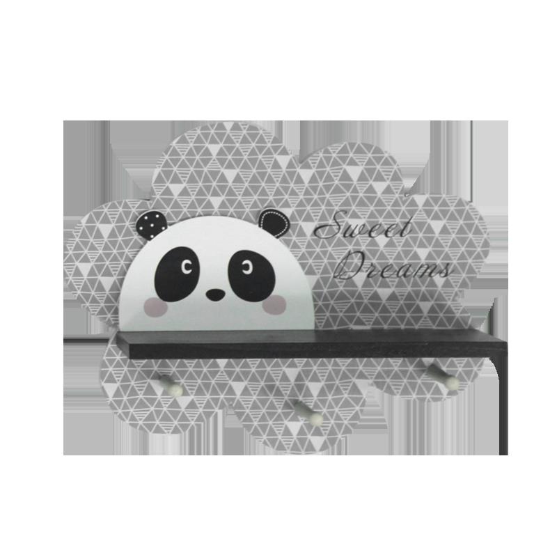 Décoration de maison en bois Panda Enfant