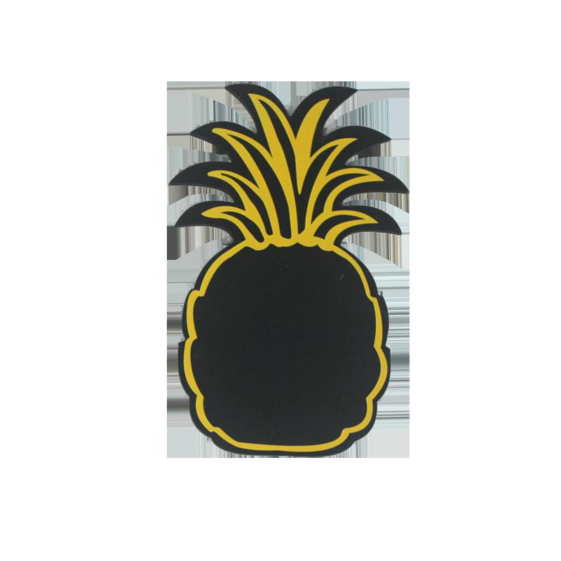 Décoration de maison tableau noir ananas d'été