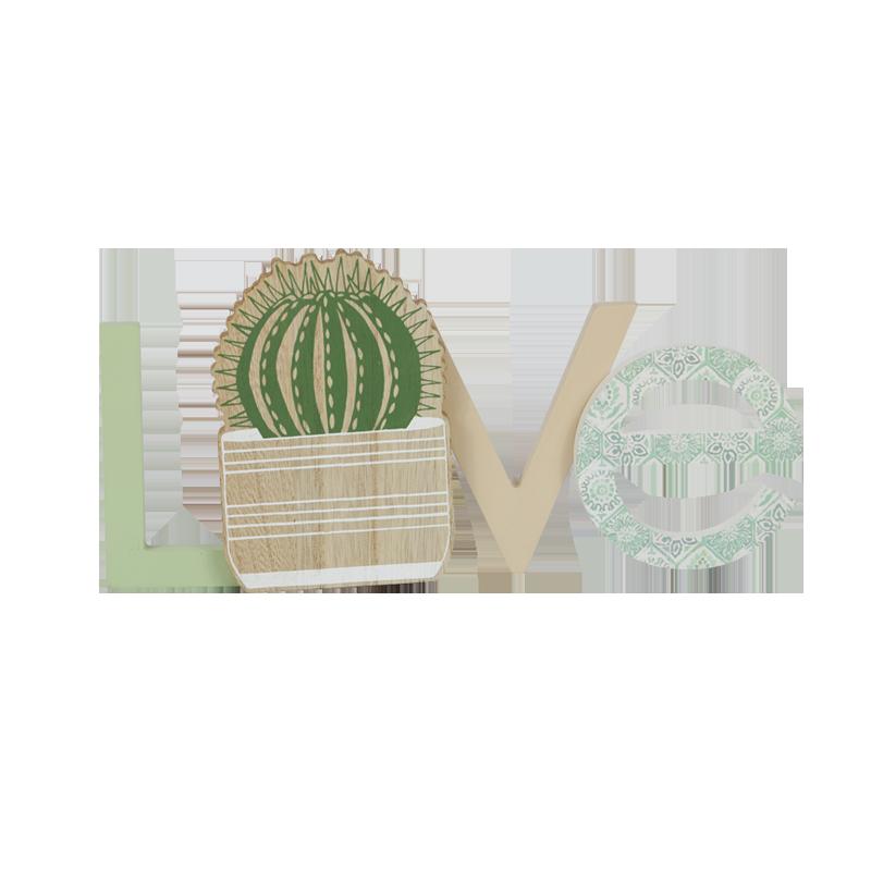 Décoration de la maison en bois Cactus d'été