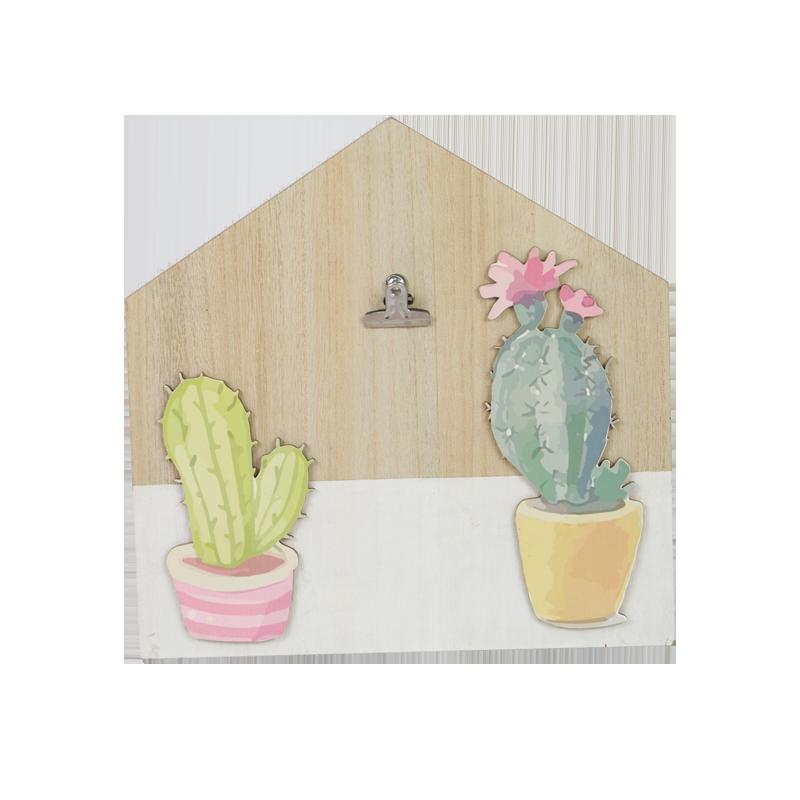 Maison de cactus en bois d'été décoration de la maison