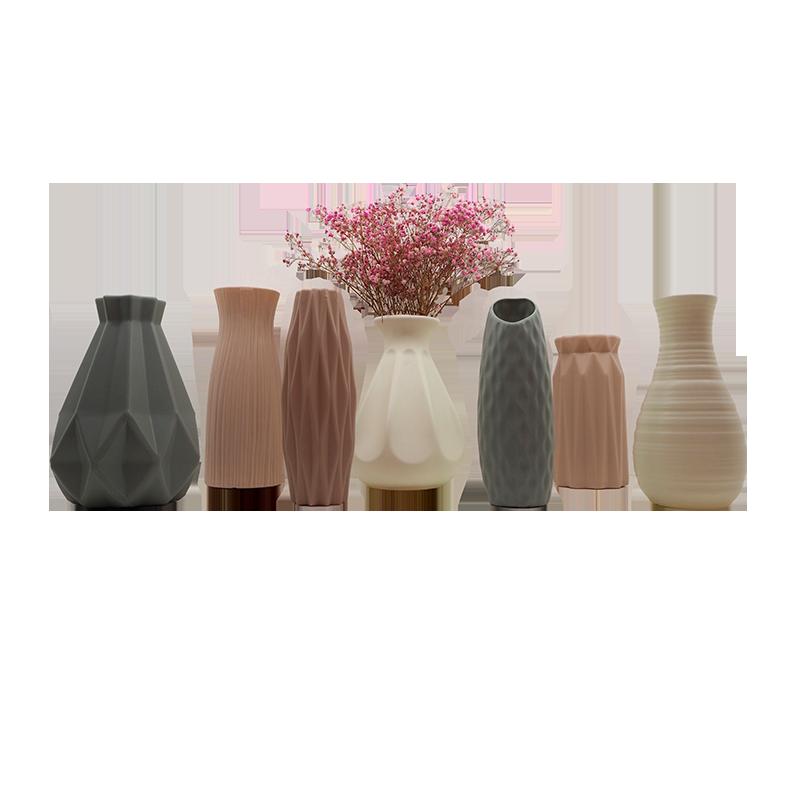 Décoration à la maison en bois Vase en plastique