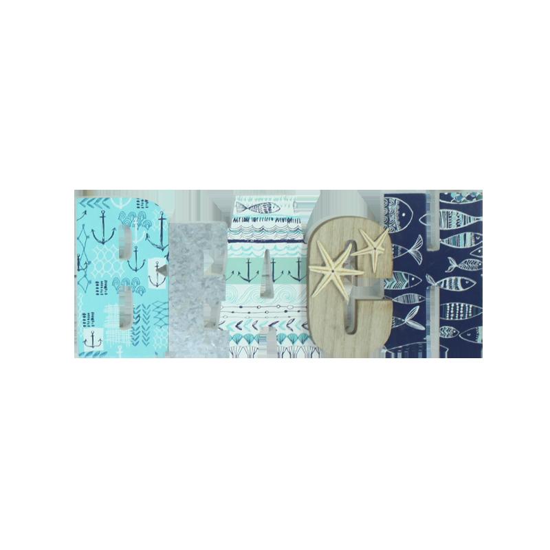 Décoration de la maison en bois Lettre de plage