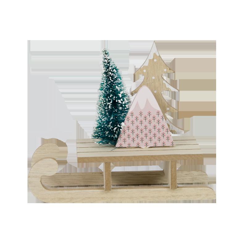 Décoration de la maison en bois de Noël